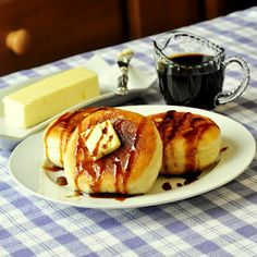 Toutons!! - Newfoundland traditional fried bread dough, served with butter and molasses; a different but delicious addition to your weekend brunch.