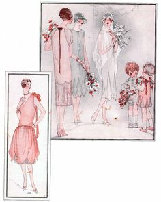 1920s wedding party http://www.vintagevictorian.com/costume_1920bride.html