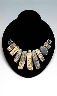 Single-Strand Necklace with Polymer Clay - Julie Picarello