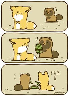 ~ Chồn <3 Cáo ~ Cute Stories, Short Comics, Furry Art, Cat Art, Baby Love, Cute Cats, Cute Babies, Pikachu, Cute Animals