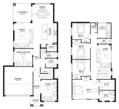 Clovelly 31 - Double Level - Floorplan by Kurmond Homes - New Home Builders Sydney NSW