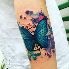 tattoo blue butterfly life is strange rewind butterfly effect tatto game aquarela chloe price max caulfield