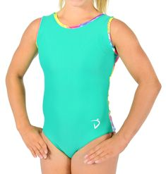 Mint lycra front with rainbow VELVET plaid print back! Teachers Pet, Product Page, Gymnastics Leotards, Fall Collections, Dna, Plaid, One Piece, Swimwear, How To Wear
