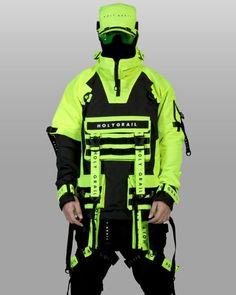 Mode Cyberpunk, Cyberpunk Clothes, Cyberpunk Fashion, Tactical Wear, Tactical Clothing, Neon Outfits, Fashion Outfits, Steampunk Fashion, Gothic Fashion