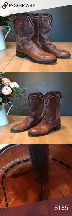 ✨Lucchese 2000 brown cowboy boots | Men's 8D Lucchese brown cowboy boots in great condition. Made in Texas. Lucchese Shoes Cowboy & Western Boots