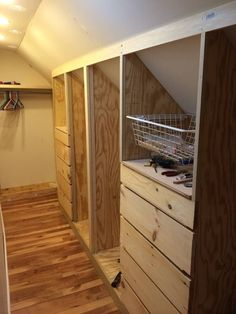 Image result for designs for narrow closets with slanted ceilings