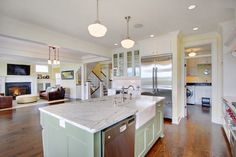 Kirkland Tanditional traditional kitchen - love the green colour