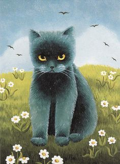 by Rohtola, via Flickr  Hollerer This reminds me of the little refuge cat we have here right now--Twilight