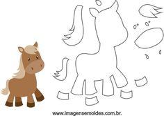 Quiet Book Templates, Felt Templates, Felt Animal Patterns, Stuffed Animal Patterns, Animal Templates, Felt Books, Horse Pattern, Farm Birthday, Farm Theme