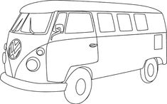 VW  camper. I like this image, You can give it your personalized paint job.
