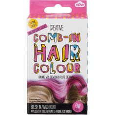 NPW Comb-In-Hair Colour in Pink ($2.77) ❤ liked on Polyvore featuring beauty products, haircare, hair color and pink