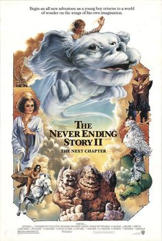 """The Neverending Story II: The Next Chapter 1991 Authentic 27"""" x 41"""" Original Movie Poster Jonathan Brandis Drama U.S. One Sheet"""