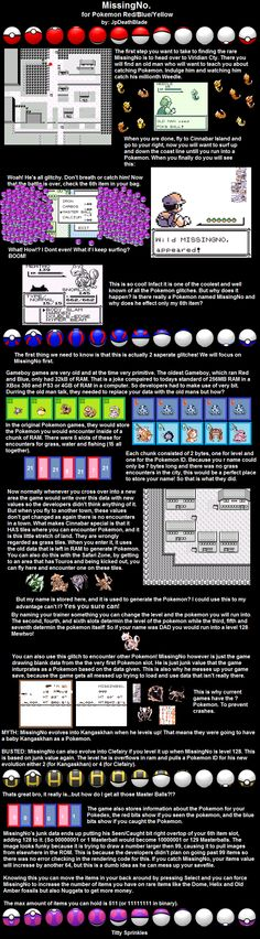 It all makes sense now! MissingNo. Pokemone glitch.