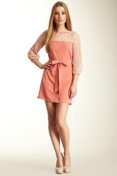 Pink Owl Crochet Knit Trim Dress by Season's Best Bets on @HauteLook