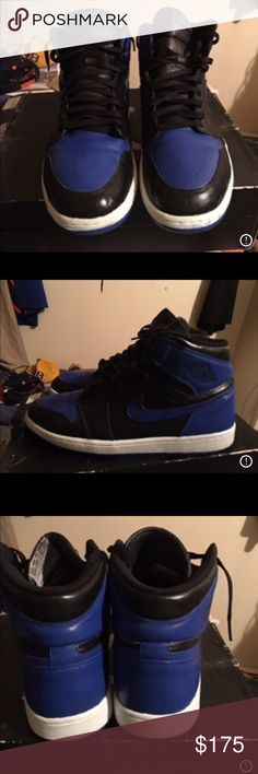 Jordan 1 royals Custom hand painted fully wearable with Angelou's paint base were of black and white ones Jordan Shoes