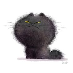 Cute and funny art Wiebke Rauers Illustration Arte Peculiar, Cute Animal Drawings, Whimsical Art, Cute Illustration, Crazy Cats, Cat Art, Cats And Kittens, Baby Kittens, Cute Cats
