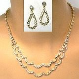 This rhinestone necklace sets has the understated look desired by brides and prom girls. Find wholesale rhinestone jewelry for every personality by clicking on the link. http://www.awnol.com/store/Rhinestone-Jewelry/Rhinestone-Sets