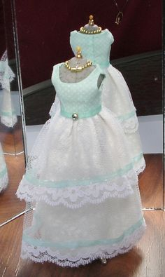 l12 Scale Doll Dress and Accessories by Greatminis on Etsy
