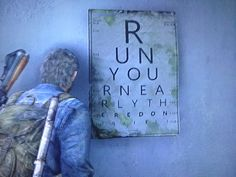 Noticed a nice little hidden message in the last area in The Last of Us.