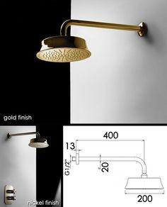 Gold Shower Head - Gold Fixed Shower Heads