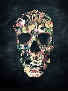 Eclectic Skull via Etc-alltherest