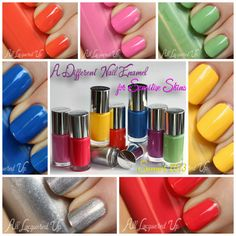 Swatches & Review: A Different Nail Enamel for Sensitive Skins by Clinique http://www.alllacqueredup.com/2013/05/clinique-different-nail-enamel-sensitive-skins-review-swatches.html
