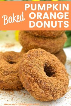 Baked to perfection then rolled in sugar. No donut pan? Don't worry, I've got you covered! Best Vegan Recipes, Vegan Dessert Recipes, Donut Recipes, Vegan Breakfast Recipes, Vegan Snacks, Amazing Recipes, Brunch Recipes, Vegan Food, Beef Recipes