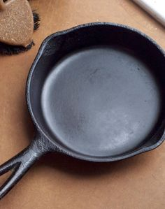 How To Clean a Cast Iron Skillet I could have used this info 16yrs ago...Tho I didn't tooo bad ;)