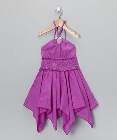 Lele for Kids Purple Keyhole Handkerchief Dress - Girls That Look, Take That, Handkerchief Dress, Girls Dresses, Summer Dresses, Purple Lace, Princess Party, Lace Dress, Kids Fashion