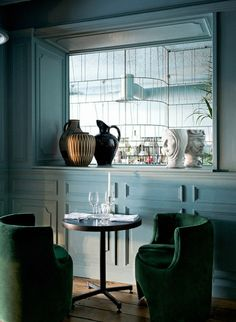 Hotel chic: a very glamorous restaurant in Paris