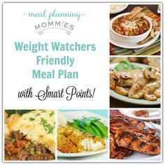 Meal Planning Mommies- Weight Watcher Meal Plan with WW Smart Points. Free printable grocery list and recipes