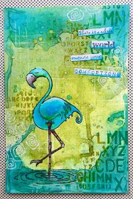 Hello everyone, It is 'WordUp Weekend' at Stampotique. This is an event where we share some of the best quote and word stamps. I chose one. Art Journal Pages, Art Journals, Drawing Journal, Travel Journals, Flamingo Art, Mixed Media Journal, Atc Cards, Mixed Media Artwork, Junk Art