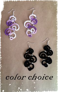 Tatting Lace Earrings