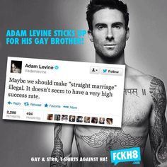 Adam Levine sticks up for his brother