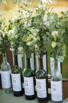 Table seating chart wedding wine 33 New Ideas Table Seating Chart, Wedding Reception Seating, Seating Chart Wedding, Reception Entrance, Wedding Tables, Wine Bottle Centerpieces, Wedding Wine Bottles, Unique Weddings, Trendy Wedding