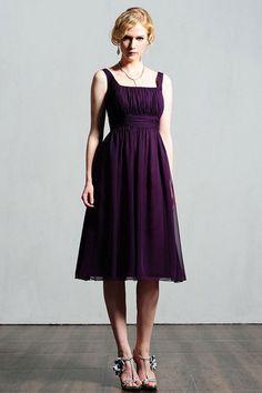 Fashionable A-line empire waist chiffon dress for bridesmaid $172.00