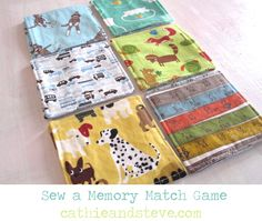 Sewing Tutorial: Stitch a Fabric Memory Matching Game.  Handmade Toys are awesome!!