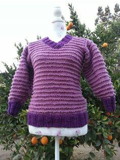 Chaleco mangas 3/4 100% lana de ovejas