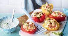 Découvrez notre recette de poivrons farcis à la méditerranéenne