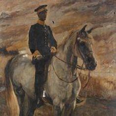 Max Slevogt - Würtembergischer Dragoner-Offizier zu Pferde (1902)