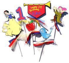 Snow White Disney Princess Theme Centerpiece by ScrapsToRemember, $17.50