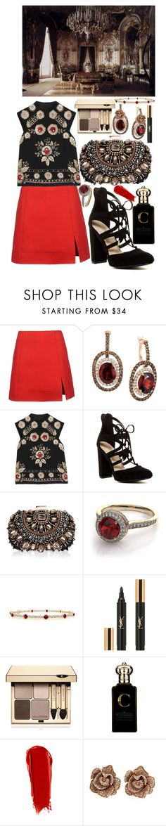 """a little death"" by loveselena22 ❤ liked on Polyvore featuring Atto, LE VIAN, Needle & Thread, Lipsy, Yves Saint Laurent, Clarins, Clive Christian, NARS Cosmetics and Effy Jewelry"
