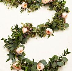 diy floral garland - step 3