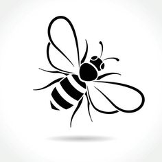 bee icon on white background vector art illustrationYou can find Clip art and more on our website.bee icon on white background vector art illustration Vogel Silhouette, Bee Silhouette, Silhouette Design, Silhouette Clip Art, Bee Stencil, Stencils, Dibujos Baby Shower, Bee Icon, Bee Art
