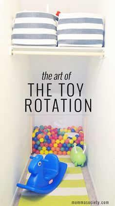 How To Organize Your Toys Using Toy Rotation Momma Society Playroom Organization Momma Organize Rotation Society Toy Toys Toddler Fun, Toddler Toys, Toddler Activities, Montessori Activities, Kids Room Organization, Organizing Toys, Organize Toy Rooms, Organizing Ideas, My Bebe
