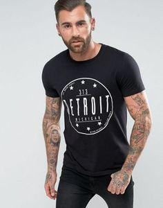ASOS T-Shirt With Detroit Print