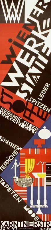 Wiener Werkstätte poster -Flögl, Mathilde, 1928.