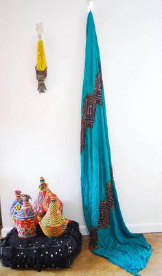 Tribal Fabric from the M.Montague Souk. Hand dyed in Mauritania.