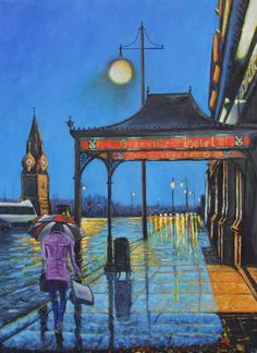 Reflections - The Quay Waterford.,Oil on Canvas,45 x 61 cm, Irish artist, Ken Smith