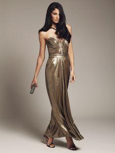 Badgley Mischka Silk Sequin Sweetheart Gown #prom